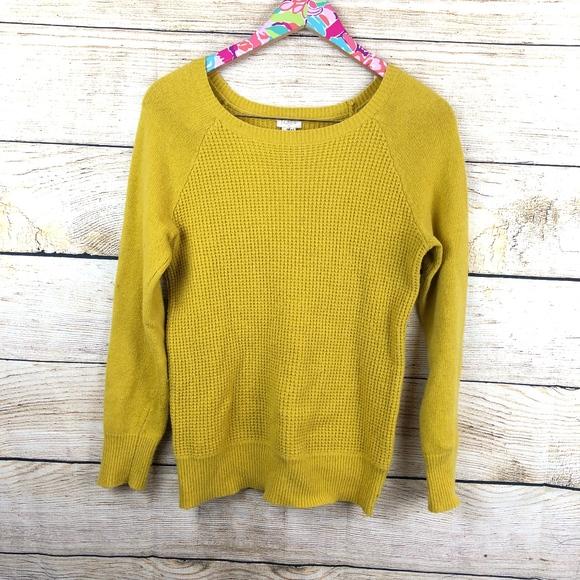 J. Crew Sweaters - Yellow J. Crew Waffle Crewneck sweater sz S / B04